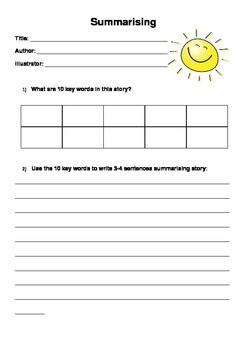 Summarising- An introductory activity