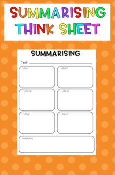 Summarising Think Sheet