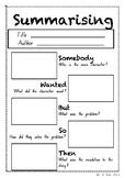 Summarising Worksheet