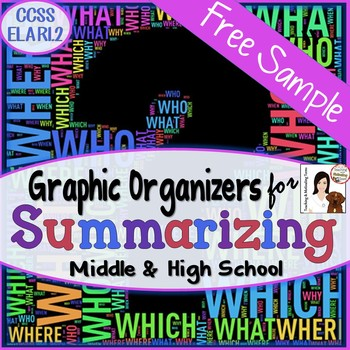 Summarization Notes Handout Freebie - Who, what, when, whe