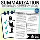 Summarizing Worksheets