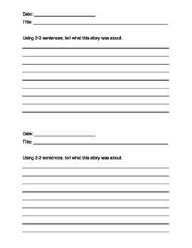 Summarization Sheet