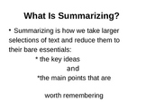 Summarization - Somebody Wanted But So Then