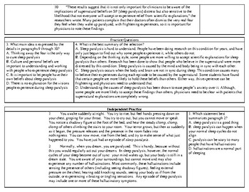 Summarization and Main Idea Worksheet with Demonstration of Learning