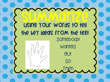 Summarize Anchor Chart & Graphic Organizer