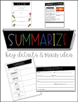 Summarize, Key Details & Main Idea