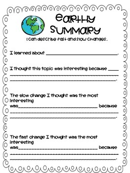 Summarize Learning: Fast and Slow Changes