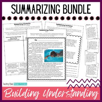 Summarizing Activities Bundle - Reading Passages, More - Fiction and Nonfiction