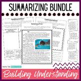 Summarizing Activities Unit / Lessons - Reading Passages for Fiction, Nonfiction