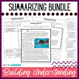 Summarizing Activities Unit / Lessons - Reading Passages for Fiction, Nonfiction