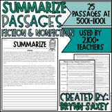 Summarize Passages (25 Passages to Practice Summarizing Fi