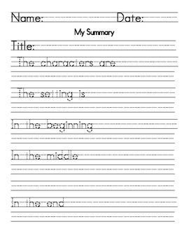 Summarize Posters, Task Cards, and Worksheets