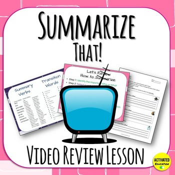 Summarize That! Review Lesson