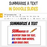 Summarize a Text in Google Slides