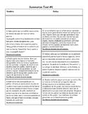 Summarize and Main Idea Tests (Spanish)
