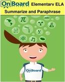 Summarize and Paraphrase-Interactive Lesson