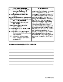 Summarizing and Summary (Synthesizing by Reading 2 Texts fiction/nonfiction)