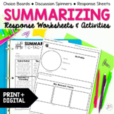 Summarize and Synthesize Reading Response Activities