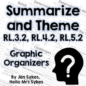 Summarize and Theme - Fiction Graphic Organizers - RL.3.2,