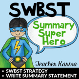 Summary Writing Kit ~ SWTBS ~ Somebody Wanted To But So ~ RTI Reading