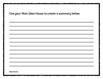 Summarize using the Main Idea and Details - CCSS