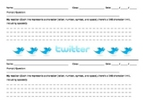 Summarizer & Graphic Organizer - Twitter Response Sheet