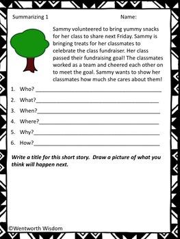 Summarizing activities Summarizing nonfiction text summary practice Summarizing
