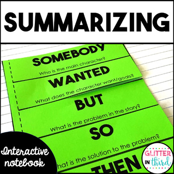 Summarizing - Reading Interactive Notebook