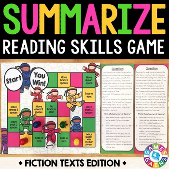 Summarizing Activity: Summarize Fiction Reading Game
