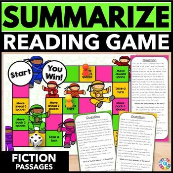 Summarizing Activity: Summarizing Reading Game (Fiction Edition)