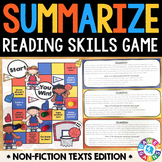 Summarizing Activity: Summarize Nonfiction Reading Game