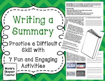 Summarizing: 7 Fun Activities to Practice a Difficult Skill