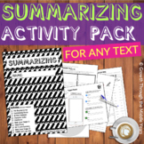 Summarizing Activities (for ANY text)