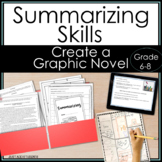 Summarizing Activities One Pager Graphic Novel for Middle School