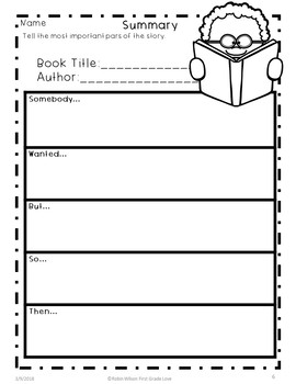 Summarizing Activities First Grade