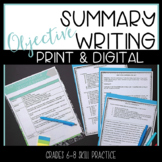 Summarizing Activities for Fiction Nonfiction Objective Digital and Print