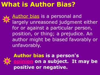 Summarizing Author Bias