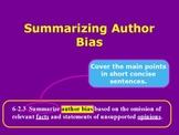 Summarizing Author Bias