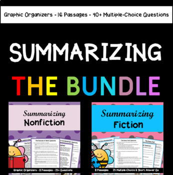 Summarizing BUNDLE: 16 Passages with 40+ Multiple-Choice Questions and More!