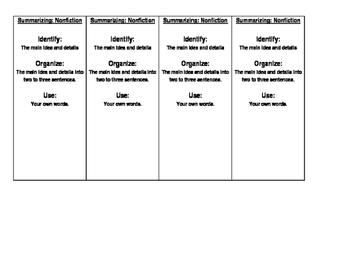 Summarizing Book Marks - Nonfiction