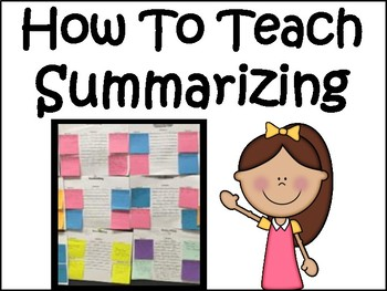 Summarizing Bundle: How To Teach It, Lessons, Practice Printables, & More