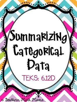Summarizing Categorical Data, 6.12D