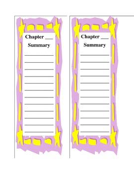 Summarizing - Chapter Summary Bookmark