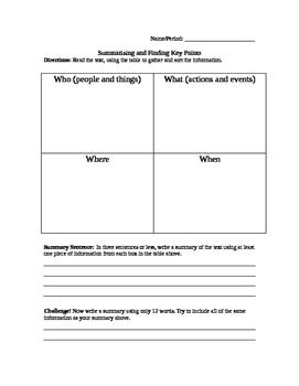 Summarizing Chart