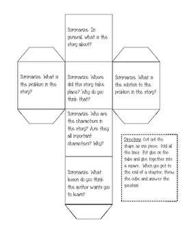 Summarizing Cube - Reading Comprehension Activity