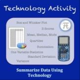 Summarize Data Using Technology Activity