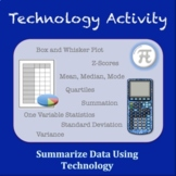 Summarize Data Using Technology Activity