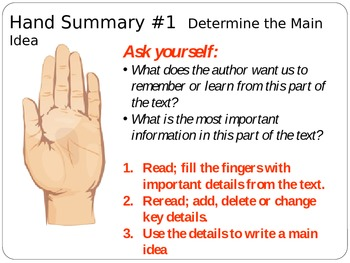 Summarizing: Determining What is Important in Text