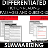 Reading Comprehension Passages and Questions - Summarizing - Differentiated