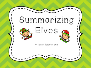 Summarizing Elves [FREEBIE]
